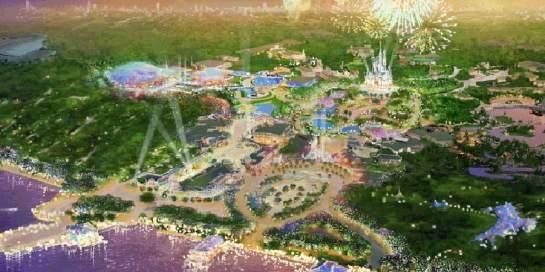 La imagen recrea lo que será el proyecto Disney en Shanghai (Disney) 20minutos.es