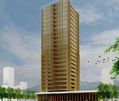 Un edificio de madera de 100 metros de altura está planeado en Vancouver y podría alentar más proyectos similares (Michael Green Architecture/Cortesía) Planeta CNN, México