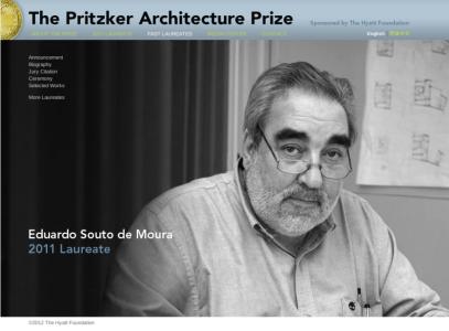 Eduardo Souto de Moura, Premio Pritzker 2011