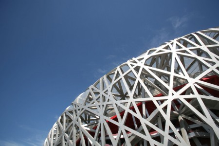 "Natalie Behring/Bloomberg  Jacques Herzog and Pierre De Meuron created the ""Bird's Nest"" for the Beijing Olympics."
