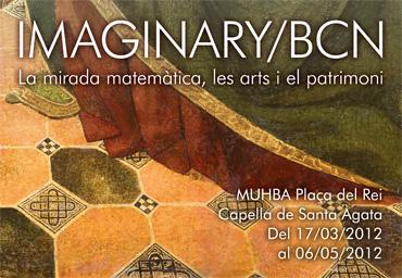 Cartel de la Exposición «La mirada matemática, las artes y el patrimonio» en el Muhba