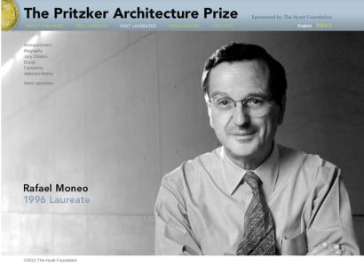 Rafael Moneo, Premio Pritzker 1996