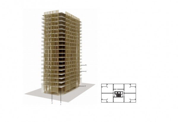 """The plans for the 30-story tower are among a small group of """"woodscrapers"""" - www.architizer.com"""