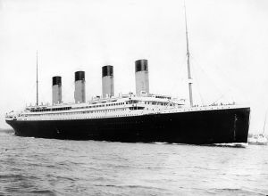 The RMS Titanic - built by Harland and Wolff - departing Southampton in 1912 - Wikipedia