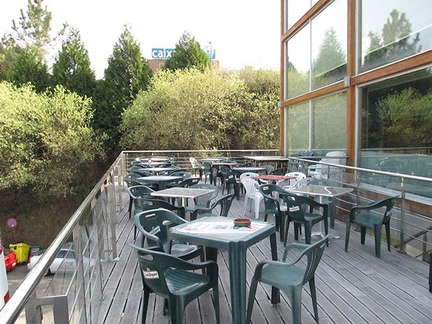 Instantánea de terraza en primavera, Expourense - marzo 2012 (antes)