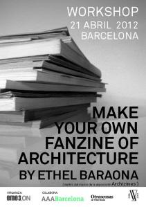 "Cartel del Workshop ""Make your own Architecture Fanzine"" - Eme3_ON"
