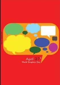 Cartel alusivo al Día del Diseño Gráfico que organiza el Consejo Internacional de Asociaciones de Diseño Gráfico (Icograda).