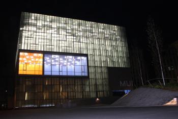 Vista nocturna de la Sede del nuevo Museo en A Coruña - www.muncyt.es