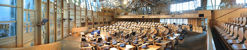 Debating chamber of the Scottish Parliament - Wikipedia