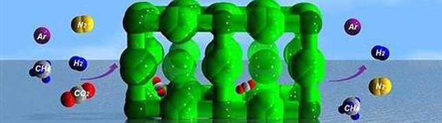 U.N. La estructura con forma de panal absorbe el CO2 y libera el resto de gases - ABC.es