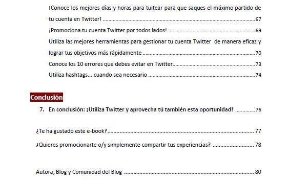 Contenido e-book gratuito #TwitterparaTodos - 2