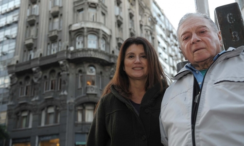Nidia Marinaro y Rodolfo Livingston, arquitectos. Foto; Télam