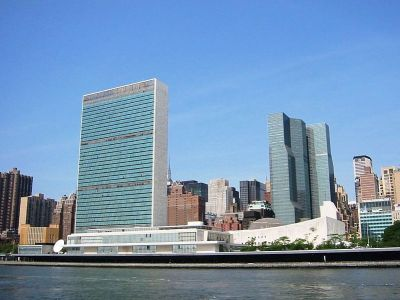 United Nations Headquarters in New York City, as viewed from the East River. Wikipedia