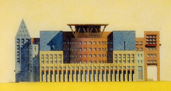 Denver Central Library South Facade, 1991 - Michael Graves & Associates - NYTimes.com