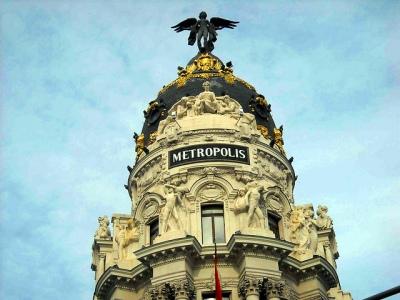 Cúpula del Edificio Metrópolis, Gran Vía con Calle de Alcalá, Madrid. Foto: Darío Álvarez, 2011