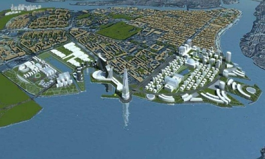 Proyecto español para Nihzni Nóvgorod  Una representación infográfica de la ciudad diseñada por el estudio HCP. (hcparquitectos.com) 20minutos.es