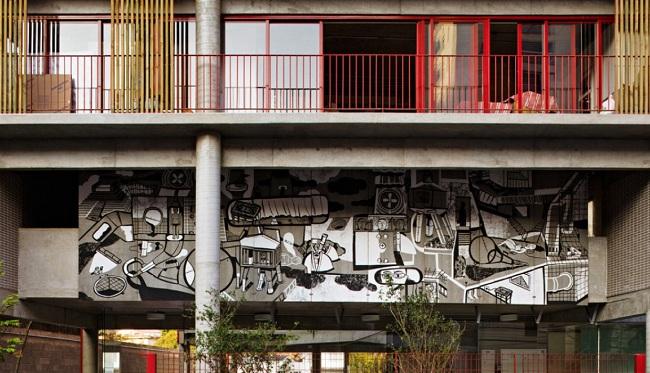 Edifício Habitacional na Rua Simpat, Brasil. Una muestra recoge los trabajos premiados en la VIII Bienal Iberoamericana de Arquitectura y Urbanismo. www.sevillaactualidad.com