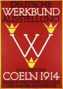 Poster for the Deutsche Werkbund Exhibition in Cologne, Fritz Hellmut Ehmke, 1914 - www.fiellblog.com
