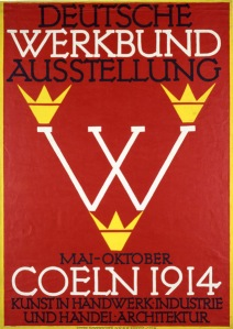 Poster for the Deutsche Werkbund Exhibition in Cologne, Fritz Hellmut Ehmke, 1914 - www.fiellblog.com