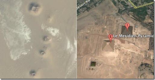 Las pirámides encontradas en Google Earth