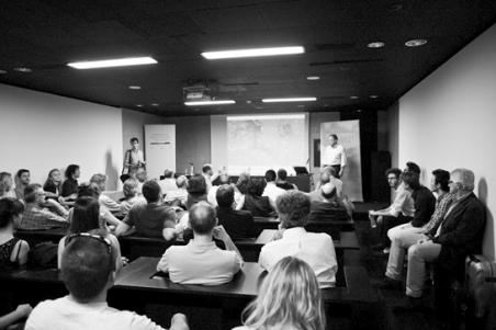 Foto: Cortesía FAS, Instantánea de una de las Sesiones abiertas, esta, con Juan Rodriguez