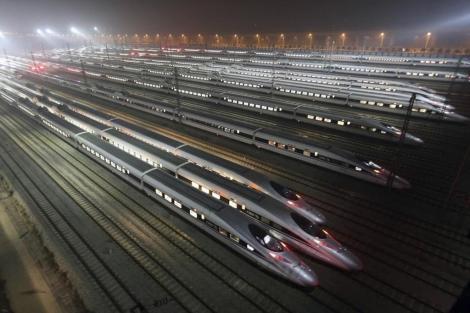 Trenes de alta velocidad en China. | Efe - ElMundo.es