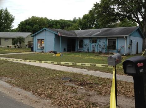 Casa en la que falleció el estadounidense engullido por la Tierra en Florida. | Efe / ElMundo.es