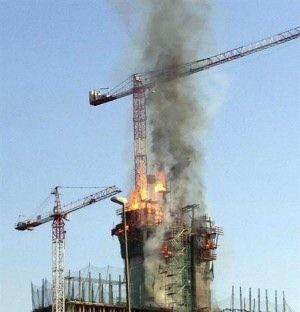 Intereconomia.com, Incendio fortuito en la nueva sede del BBVA en Madrid