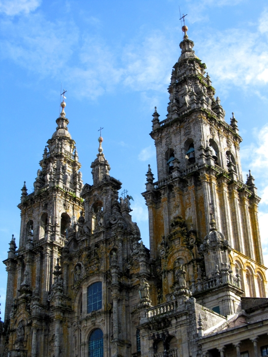 Torres de la Catedral de Santiago de Compostela, vistas desde la Plaza del Obradoiro, Octubre 2012 - Foto: Darío Álvarez.