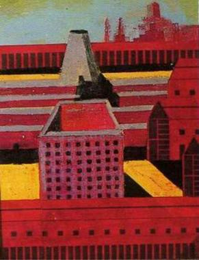 Aldo Rossi, Drawing for San Cataldo Cemetery, Modena, Italy, 1971