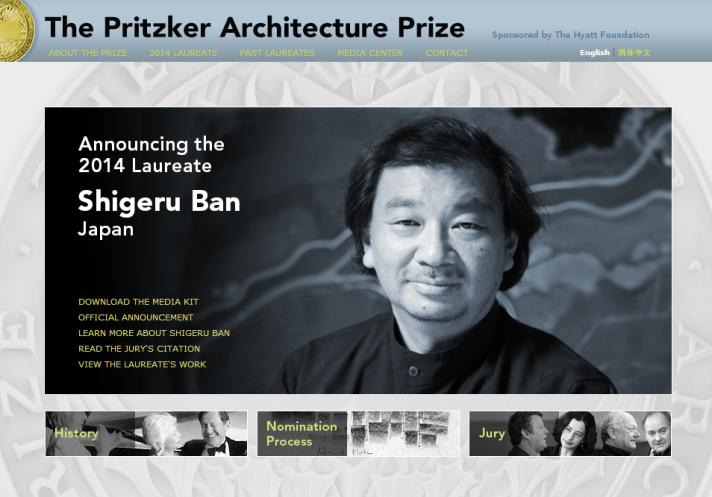 Shigeru Ban, de Japón, Premio Pritzker 2014 | The Pritzker Architecture Prize