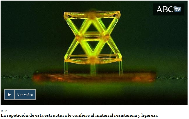 Desarrollan un material «tallado» con la luz que soporta 160.000 veces su peso - ABC.es