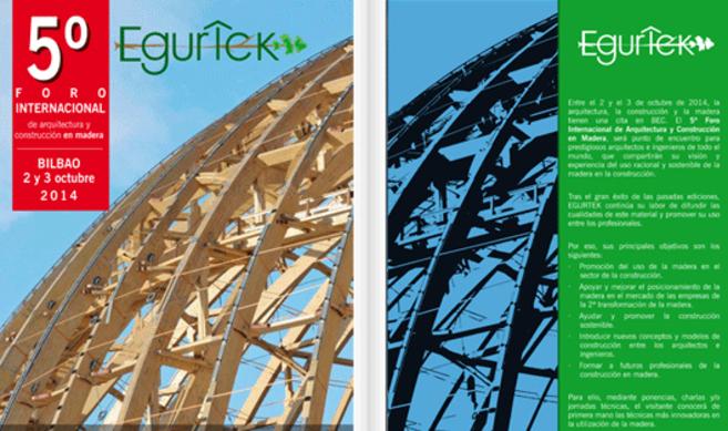 Imagen promocional del Foro Internacional de Arquitectura y Construcción en Madera Egurtek 2014.