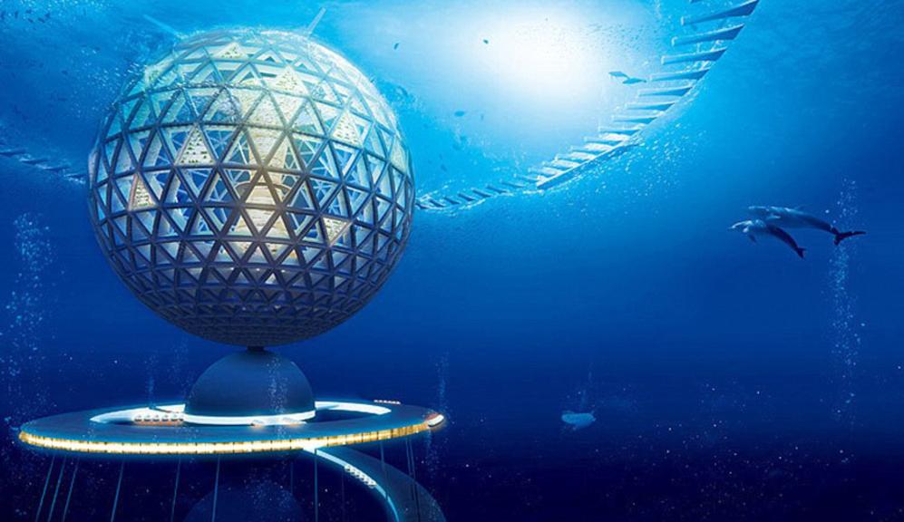 Recreación virtual del complejo 'Ocean Spiral'. SHIMIZU CORPORATION  - Vivienda: Diseñan una ciudad submarina | EL MUNDO