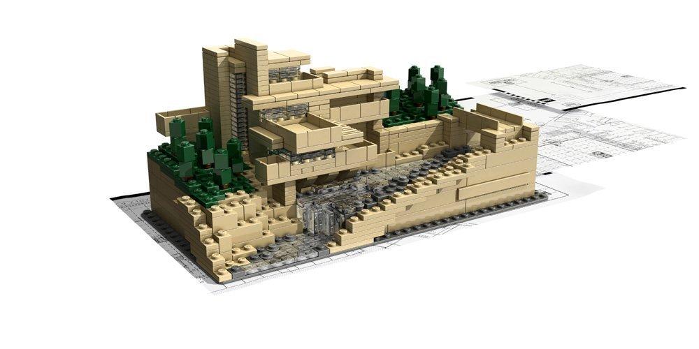 LEGO Architecture 21005 – Fallingwater (modelo completado y folletos)