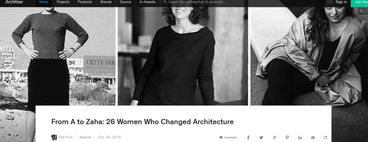 From A to Zaha: 26 Women Who Changed Architecture – Architizer (lo más leído y compartido)