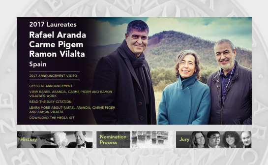 Rafael Aranda, Carme Pigemand Ramon Vilalta (España)  Receive the 2017 Pritzker Architecture Prize
