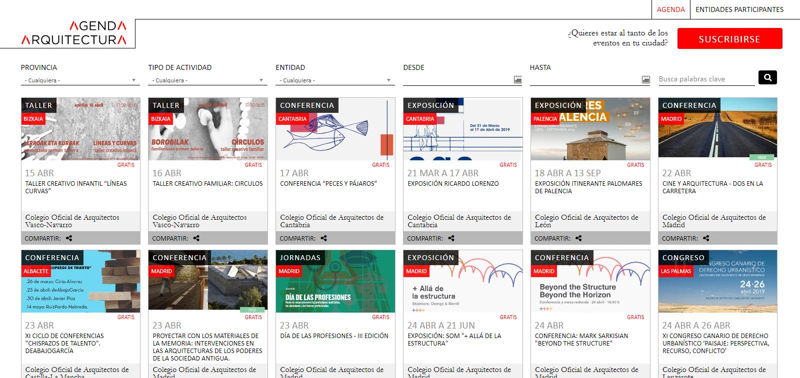 Agenda Arquitectura www.agendaarquitectura.es