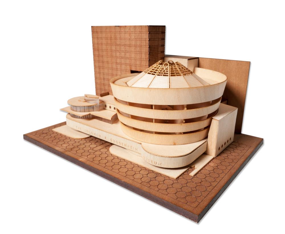 The Solomon R. Guggenheim Museum  - modelo a la venta por littlebuildingco.com