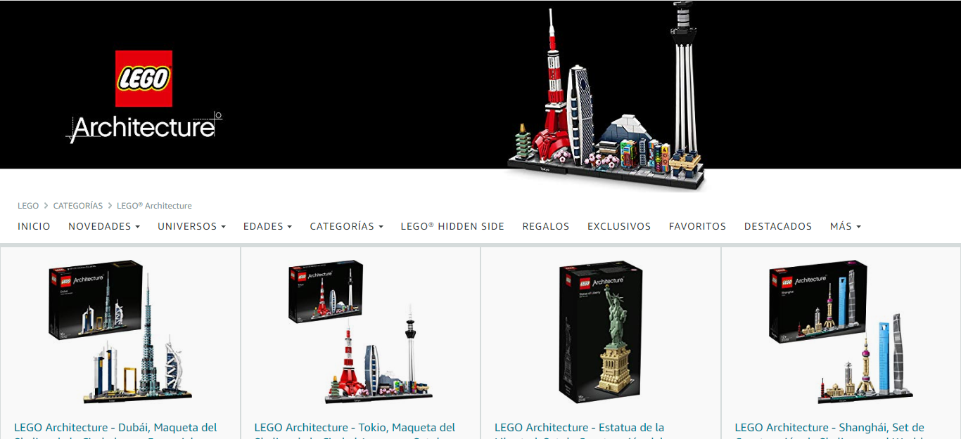 Lego Architecture en Amazon